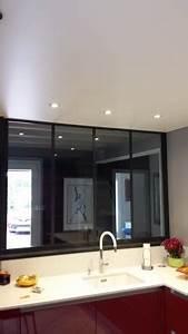 Spot Plafond Cuisine : plafonds tendus meunier plafond tendu dans une cuisine plafonds tendus meunier ~ Melissatoandfro.com Idées de Décoration