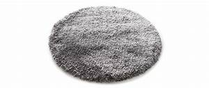 tapis shaggy rond gris 100 cm ugo miliboo With tapis rond 100 cm