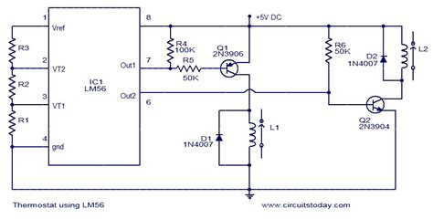 thermostat  lm electronic circuits  diagrams