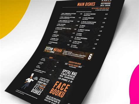 Use the smart layer to drop your designs. Free Menu Card Mockup PSD A4 Template 2020 - Daily Mockup