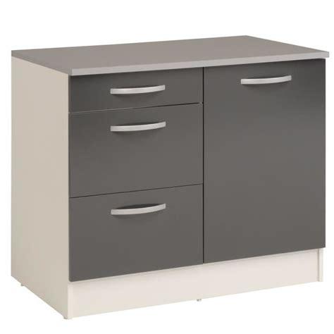 cdiscount meubles de cuisine eko gris meuble de cuisine bas pour évier avec tiroirs