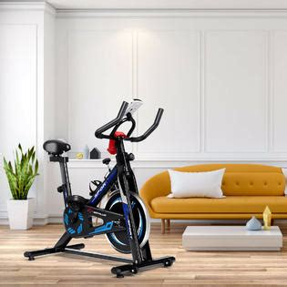Costway Indoor Cycling Bike Exercise Cycle Trainer Fitness ...