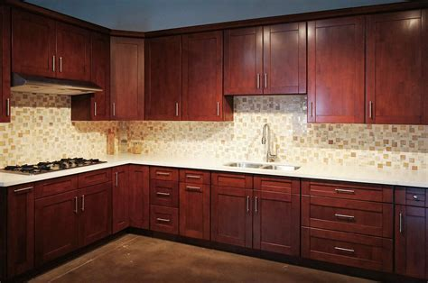 mahogany wood kitchen cabinets mahogany shaker rta cabinets cabinet city kitchen and bath 7327