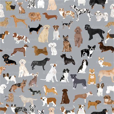 dogs grey fabric cute dog design  dogs grey fabric