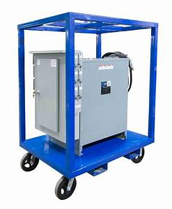 75 Kva Portable Power Distribution - 480v To 208y  120 3ph - Ss 304  N4x  Roof