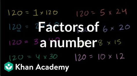 finding factors   number youtube