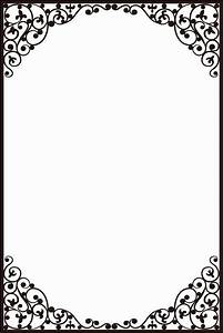 Crafts Too A4 Embossing Folder - Delicate Frame CTA407