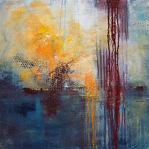 Abstrakte Bilder Acryl : komposition in blau orange von ulla sch nhense abstraktes malerei ~ Whattoseeinmadrid.com Haus und Dekorationen