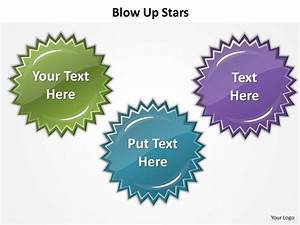 Blow Up Stars Highlight Showing Features Powerpoint Diagram Templates Graphics 712