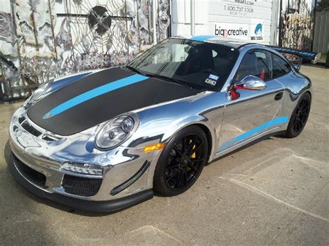porsche gt3 rs wrap chrome vehicle wrap on beautiful porsche gt3 rs 4 0 in