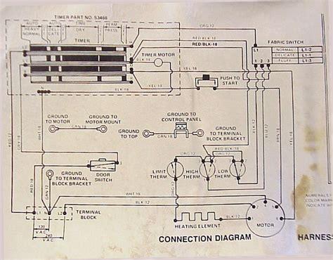 wiring diagram amana dryer amana speedqueen connection diagram dryer wiring diagram