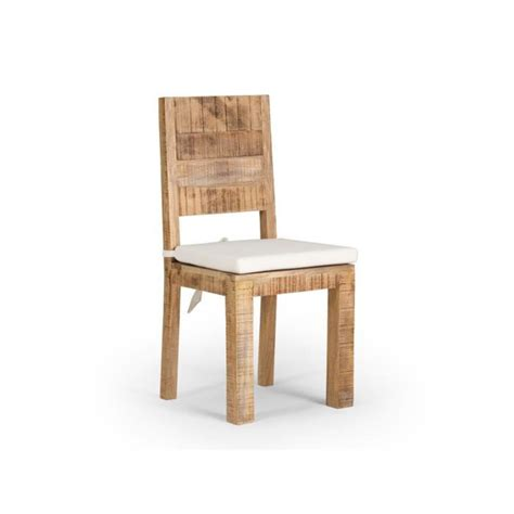 chaise en bois pas cher chaise chennai en bois de manguier massif achat vente chaise salle a manger pas cher couleur