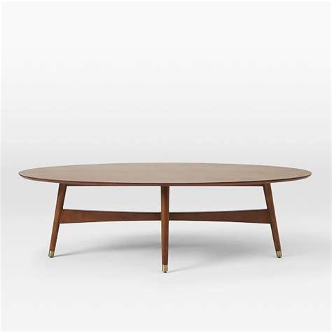 pecan wood coffee table reeve mid century oval coffee table pecan west elm