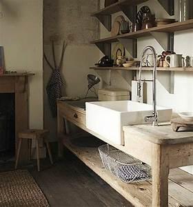 beaucoup de variantes d39evier de cuisine en photos With meuble de cuisine rustique 9 table de cuisine bois gallery of table de cuisine ronde