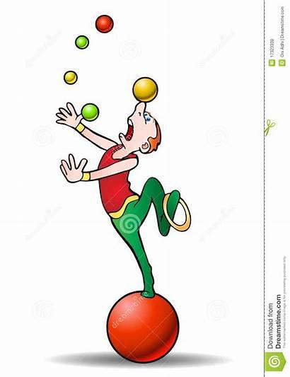 Juggling Acrobat Clipart Balls Performer Juggler Clip