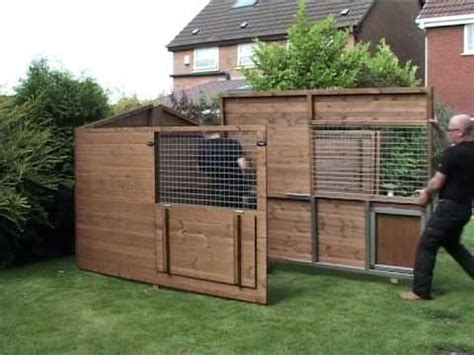 timberbuild dog kennel  run  assembled youtube
