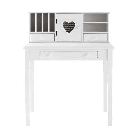bureau bois blanc bureau en bois blanc bureau en bois blanc l 150 cm