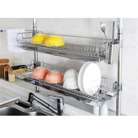 Product Of The Week Dish Rack Sink by Details About Stainless Fixing Shelf Dish Drying