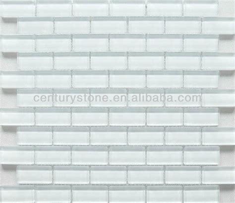 mm rectangulo brillante ladrillo de vidrio blanco