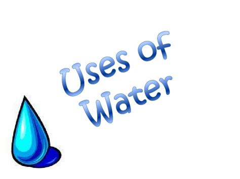 what is the use of how do people use water resources