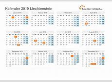 Feiertage 2019 Liechtenstein Kalender & Übersicht