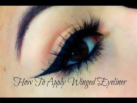 How To Do A by How To Do Winged Eyeliner For Beginners Liquid Gel
