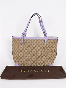 Gucci - Craft GG Canvas Violet Trim Shopping Bag   Luxury Bags