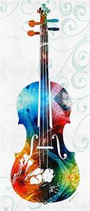 Colorful Violin Art By Sharon Cummings Painting by Sharon ...