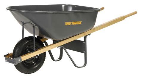 wheelbarrow steel tray  cu ft tools garant