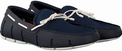 Loafer Swims Braided Lace Blaue Loafers Blauwe