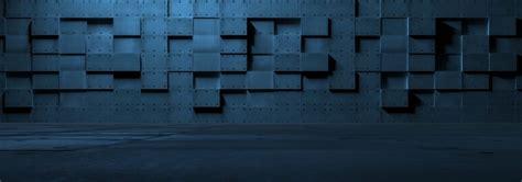 futuristic empty metal wall custom wallpaper