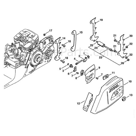 Stihl Ms 341 Chainsaw Ms341 Z Parts Diagram Chain Tensioner