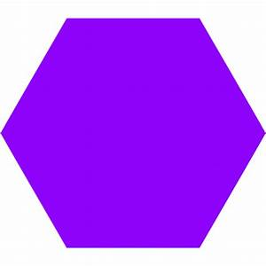 Violet Hexagon Icon