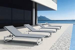 Chaise Longue Aluminium : collection de famille meubles de jardin mobilier ~ Teatrodelosmanantiales.com Idées de Décoration