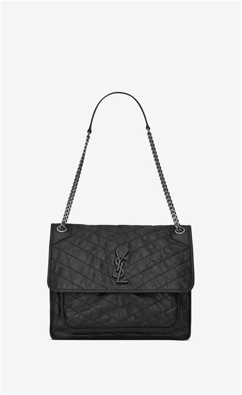 saint laurent bag niki large  catena  pelle goffrata