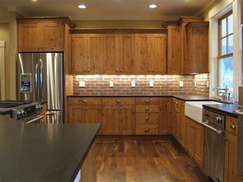 wood kitchen backsplash kitchen brick backsplashes for warm and inviting cooking