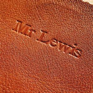 Handmade leather case for ipad by parkin lewis for Embossed letters