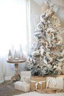 Flocked Artificial Christmas Trees by 33 Chic White Christmas Tree Decor Ideas Digsdigs