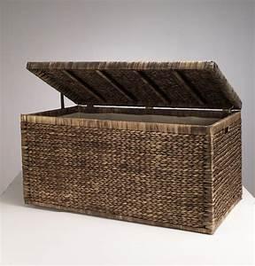 Aufbewahrungsbox Mit Deckel Stoff : truhe mit klappdeckel braun 110 cm atmungsaktiv aufbewahrungsbox mit deckel aufbewahrungskiste ~ Watch28wear.com Haus und Dekorationen