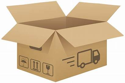 Cardboard Clip Open Clipart Boxes Brown Transparent