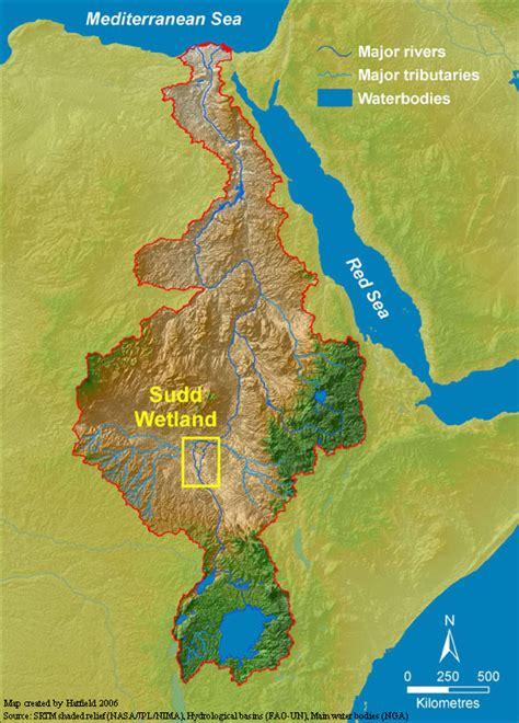 Map - Sudd Wetland, Sudan