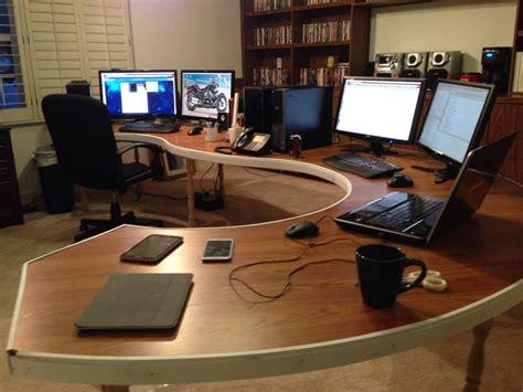 office desk setup ideas diy computer desk lots from r battlestations asked for