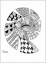 Coloring Zentangle Simple Adult Adults Drawing Claudia Zentangles Printable Lines Drops Children Fowls Justcolor Nggallery Getcolorings Thanks sketch template
