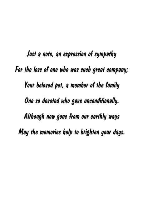 words of comfort for loss of pet pet loss sympathy expressions sympathy comfort and