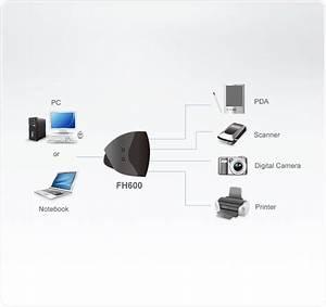 6-port Firewire Hub  Firewire Hubs