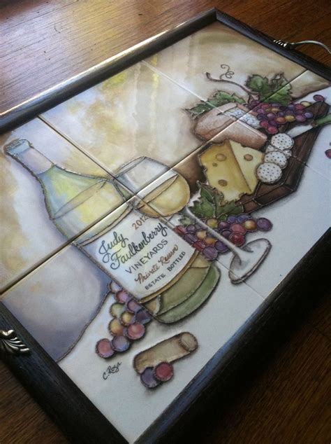 custom made ceramic tile serving tray by the clay palette