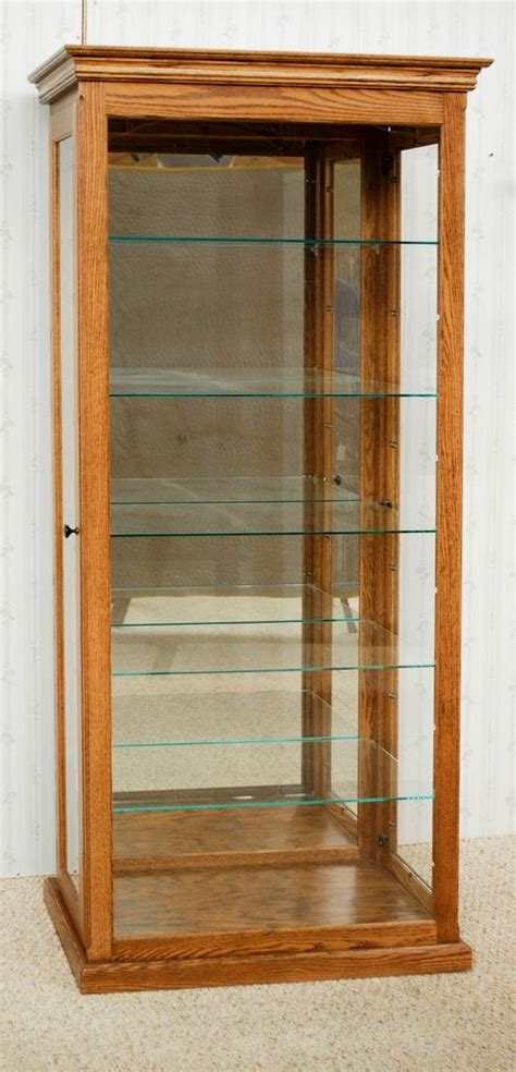 tall curio cabinet de vries woodcrafters