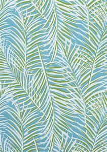 WEST PALM WOVEN, Kiwi on Spa Blue, W80563, Collection