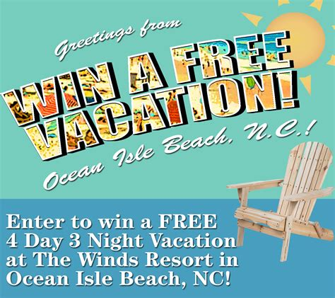 Enter To Win A Free Vacation!  Wrightsville Beach Nc