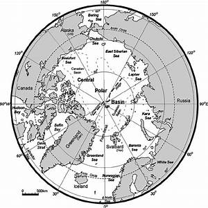The Arctic Region  An Azimuthal Equal